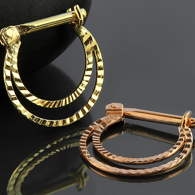 14k Gold Chit Septum Clicker