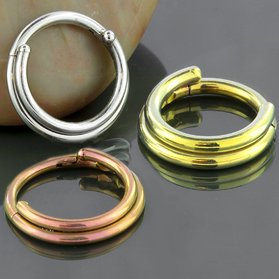 Titanium Double Septum Clicker Ring