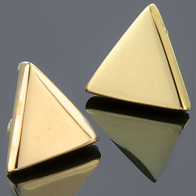 PRE-ORDER 18k Gold Triangle End