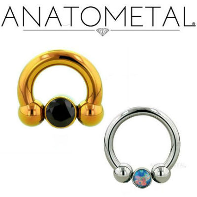 PRE-ORDER Circular Barbell with Bezel Bead