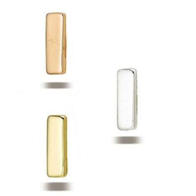 PRE-ORDER 14k Gold Flat Rectangle End