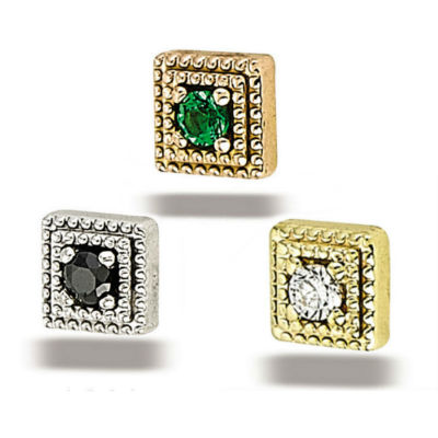 PRE-ORDER 14k Gold Square Milgrain End