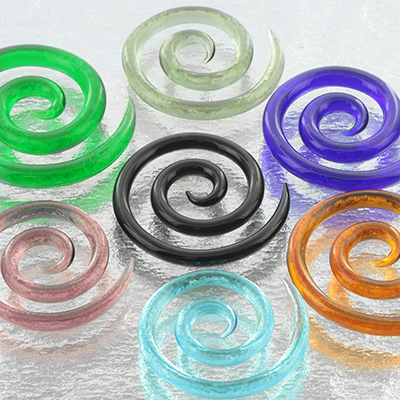 Glass Super Spirals