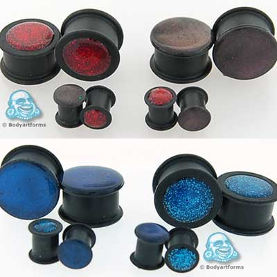 Reversible Glaze/Glitter Silicone Plug