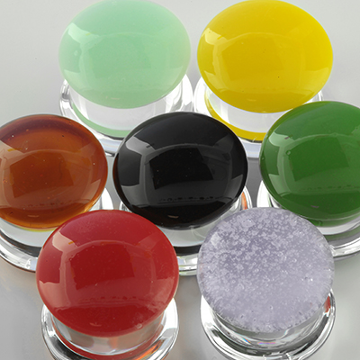 Double flare colorfront pyrex plugs