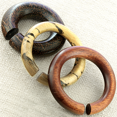 Wood 3-inch hoops