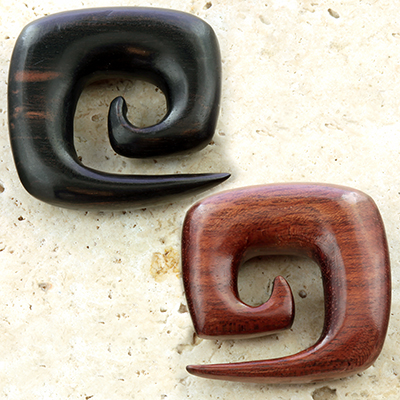 Wood Square Spirals