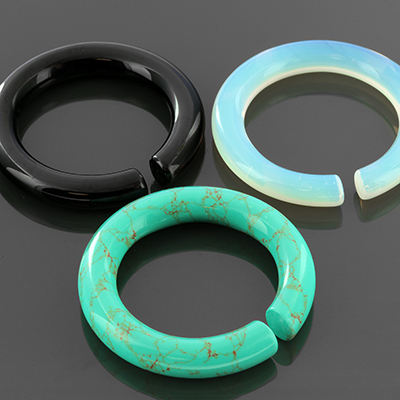 Stone and glass medium hoops