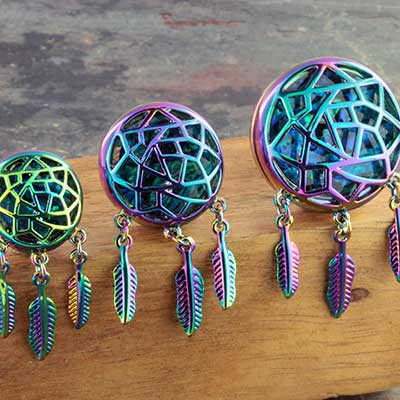 Abalone dream catcher plugs
