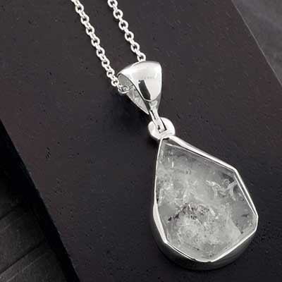 Herkimer Diamond and Silver Necklace