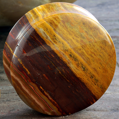 Wood Agate Stone Plugs