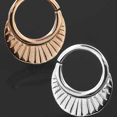 Lines Seamless Septum Ring
