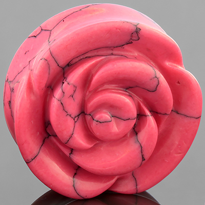 Synthetic pink turquoise rose plug